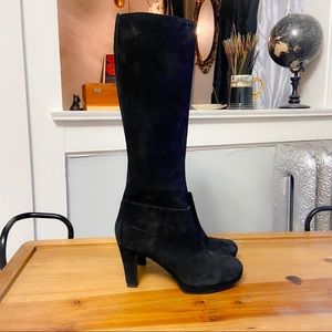 NINE WEST - Black Suede Knee High Boots - 6.5 M